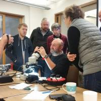Steven Falk leads a photography workshop at the Dipterists Forum annual meeting